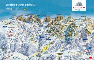 Mappa 3 Cime Dolomiti